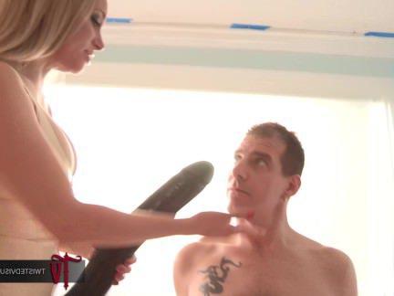 Анальная Ебля Белокурая лярва мандохает дружка в жопень метровым страпоном секс видео бесплатно